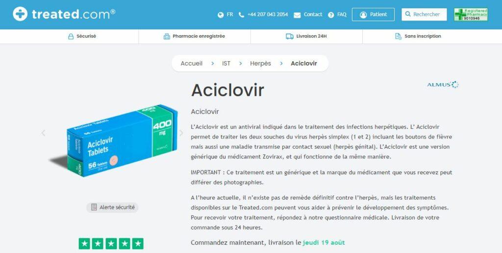 Treated - Acheter Aciclovir